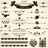 Collection of love design elements. Vector illustration. — Stock Vector