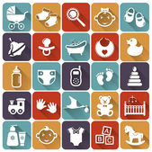 Baby flat icons. Vector illustration. — Stock Vector