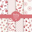 Baby seamless patterns. Vector set. — Stock Vector #39978269