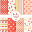 Baby seamless patterns. Vector set. — Stock Vector #40956237