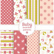 Baby seamless patterns. Vector set. — Stock Vector #41450269