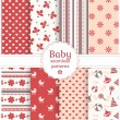 Baby seamless patterns. Vector set. — Stock Vector #42117637