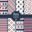 Sea seamless patterns. Vector collection. — Stock Vector #46157379