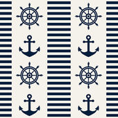 Nautical seamless pattern. Vector illustration. — Stock Vector