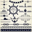 Nautical and sea design elements. Vector set. — Stock Vector #47914755
