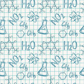 Chemical seamless pattern. Vector background. — Wektor stockowy