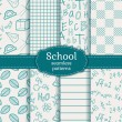 School seamless patterns. Vector set. — Stock Vector #49798673