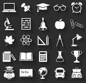 School icons. Vector set. — Stock Vector