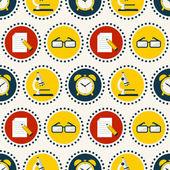 School seamless pattern. Vector background. — Stock Vector