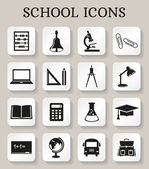 School and education icons. Vector set. — Stock Vector