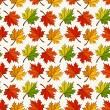Autumn seamless pattern with maple leaves. Vector background. — Stock Vector