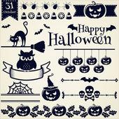 Halloween design elements. Vector set. — Stock Vector