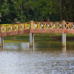 Bridge over a small lake — Stock Photo #34072763