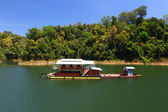 A houseboat in lake — Stock Photo