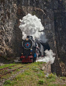 Locomotive on Circum-baikal railway — Stock Photo