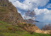 Spring on the Circum-Baikal Road to the south of Lake Baikal — Stock Photo