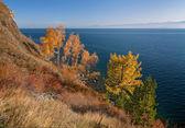 Autumn in the south of Lake Baikal — Stock Photo