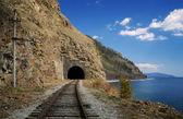 Spring on the Circum-Baikal railroad — Stock Photo