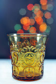 Glass of water on bokeh background — 图库照片