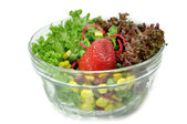 Strawberry in Salad — Stock Photo