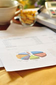 Financial statements and line chart. — Stock Photo