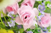 Handmade sewing flowers — 图库照片