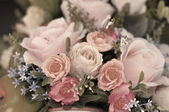 Handmade sewing flowers — Stock Photo