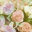 Stock Photo: Handmade sewing flowers