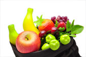 Assorted artificial fruits — Stockfoto