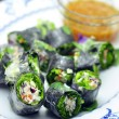 Stock Photo: Thai spring rolls with vegetable and tuna