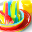 Colorful picnic ware — Stockfoto