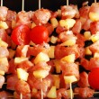 Meat on stick — Stok fotoğraf