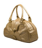 Female leather bag — 图库照片