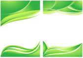 Abstrakt grön bakgrund — Stockvektor