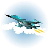 Bombardiere del combattente — Vettoriale Stock