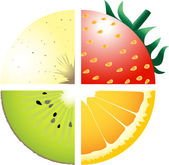 Fruits — Stockvector