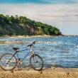 Stock Photo: Bike on secoast