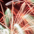 Fireworks rain — Stock Photo