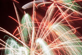 Fireworks rain — Stock Photo