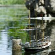 Antique sailboat — Stock Photo