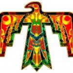 Постер, плакат: Sacred Thunderbird native american symbol