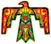 Sacred Thunderbird - native american symbol — Stock Photo
