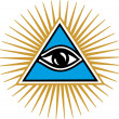 Eye Of Providence - All Seeing Eye Of God - Stock Vector