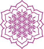 Flower of life - Lotus flower - symbol healing and harmony — ストックベクタ