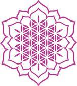 çiçek uyum ve hayat - lotus çiçeği - şifa sembolü — Stok Vektör