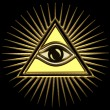 All seeing eye of god - eye of providence - symbol of omniscience — Stock Photo #21339873