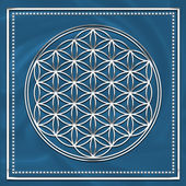 Flower of life - sacred geometry - symbol harmony and balance — Stok fotoğraf