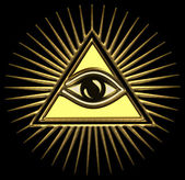 All seeing eye of god - eye of providence - symbol of omniscience — Stock Photo