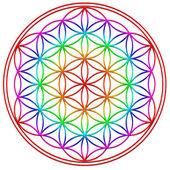 生活-神圣几何-象征和谐与平衡之花 — 图库照片