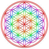 Flower of life - sacred geometry - symbol harmony and balance — Stockfoto